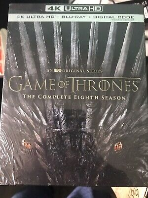 Game Of Thrones Season 8 4K+Blu Ray+Digtal New And Sealed