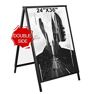 GUOHONG Folding A-Frame Sidewalk Curb Sign Double-Sided Display with Two Plastic