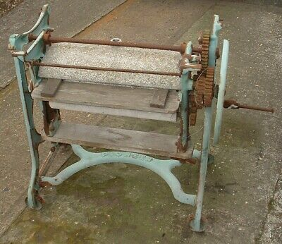 Pioneer Cast Iron Mangle Old Vintage Antique Architectural Garden Ornament