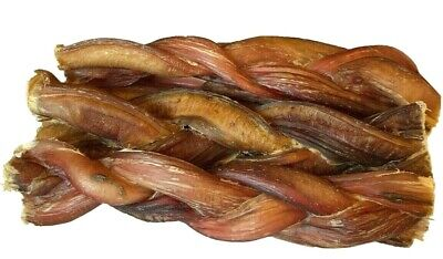 """6"""" inch BRAIDED BULLY STICKS FOR DOGS EXCELLENT DOG CHEW AND DOG TREAT (4 pcs)"""