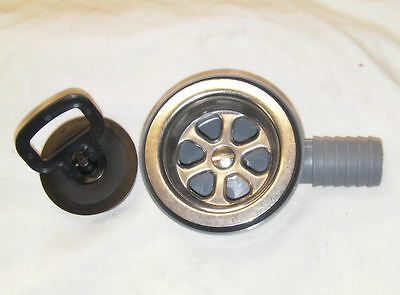 BOAT SHOWER SINK 90 DEGREE SHALLOW FIT DRAIN 25mm HOSE FOR KITCHEN AND SINKS.