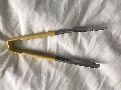 Colour Coded Serving Tongs 290mm Yellow Catering Kitchen BRAND NEW