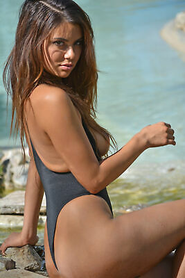"""Topless Thong Swimsuit 16""""x24"""" Photo Print Poster French Cancan Topless"""