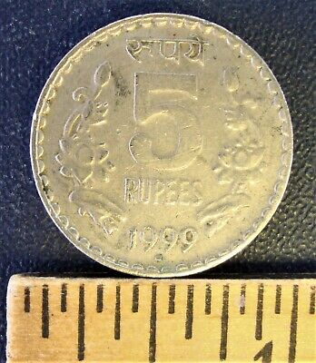 India 1999  5 Rupees Coin