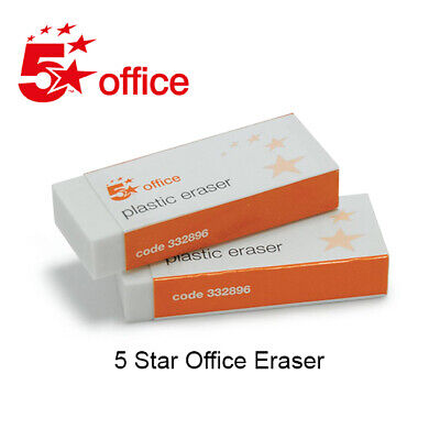 5 Star office Plastic Eraser Paper Sleeved 60x21x12mm