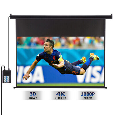 100-Inch 16:9 Wall Ceiling Electric Motorized HD Projector Projection Screen NEW