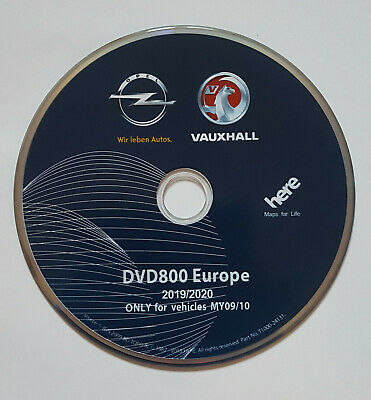 2019-2020 Vauxhall Opel DVD800 MY09/10 Sat Nav Disc Update For Insignia,Astra