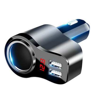 12V Car Cigarette Lighter Socket Splitter Dual USB Charger Power Phone Adapter