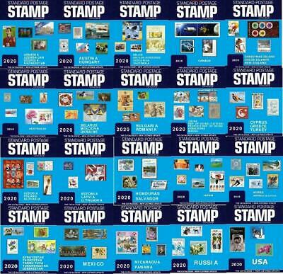 Standard Postage Stamp Catalogue 2020. 20 Volumes. 49 Countries of the World.