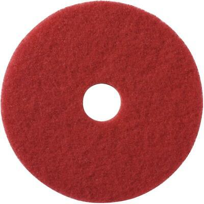 """5 Pack 17"""" Red Floor Buffing Pads"""