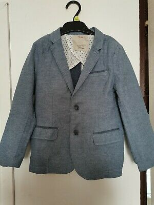 Zara Boys Light Blue Blazer Jacket 6-7 Years 122cm