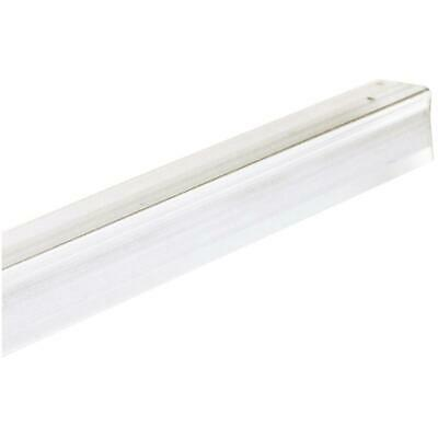 "1/2"" x 8' Clear Self Stick PVC Corner Guard"