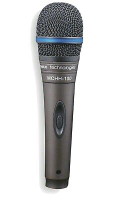 SPECO TECHNOLOGIES Microphone,Dynamic,Handheld, MCHH100A, Black