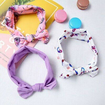 Cute Baby Girl Kid Headband Toddler Newborn Bunny Ribbon Turban Bowknot Headwear