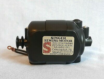 Singer Serviced TESTED Sewing Machine Motor 66 ,15-90 , 99 Mint Original Wiring