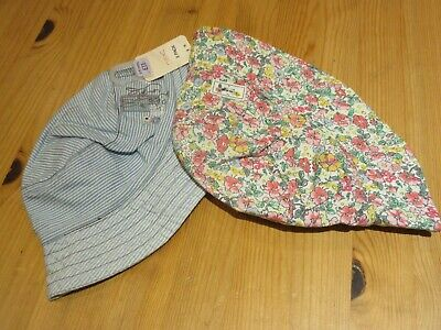 Baby Girls 2 Pack Of Next Sunhats Age 3-9 Months Bnwt