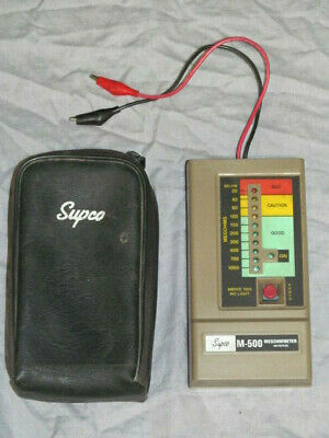 Supco M-500 Megohmmeter Insulation Tester with Black Case