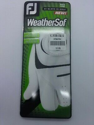 WeatherSof One Pack Mens Left Hand Large White Golf Glove by FootJoy NEW in Box