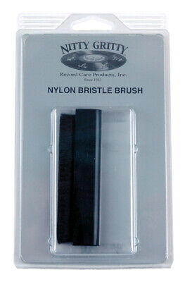 "Nitty Gritty 1/2"" Thick Nylon Bristle Record Brush New"