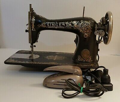 Antique Singer Sewing Machine G6633052 Portable Electric Peddle & Light IT WORKS
