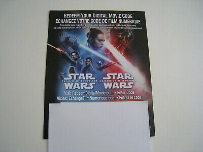 Star Wars The Rise of Skywalker (4K Digital Movie DL) NEW