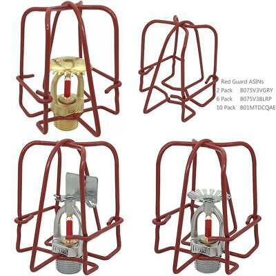"""Happy Tree (6 Pack) Red Fire Sprinkler Head Guard Cover for 1/2"""" IPS Pendent  U"""
