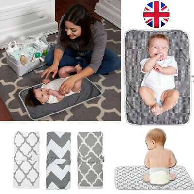 Waterproof Portable Foldable Baby Travel Diaper Changing Mat Pad Storage Nappies