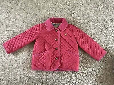 Girls Joules Quilted Coat 12-18 Months Pink