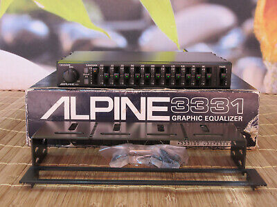 Alpine 3331 Top 11 Band Graphic Equalizer. Front / Rear + Stereo Subwoofer Out.