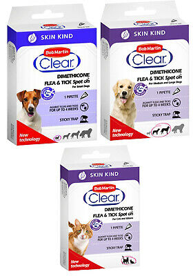 Bob Martin  Skin Kind Flea & Tick  Spot On for Cats & Kittens Small to Large Dog