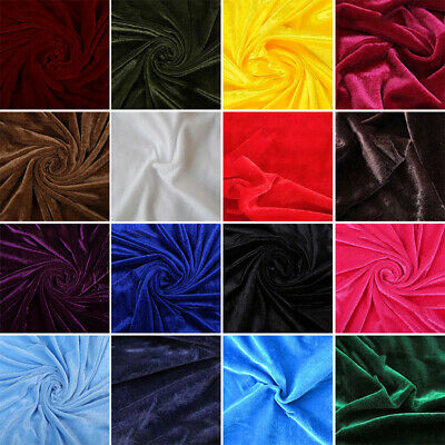 PREMIUM CRUSHED VELVET 1WAY STRETCH FABRIC DRESS CRAFT WEDDING CUSHION 100*160cm