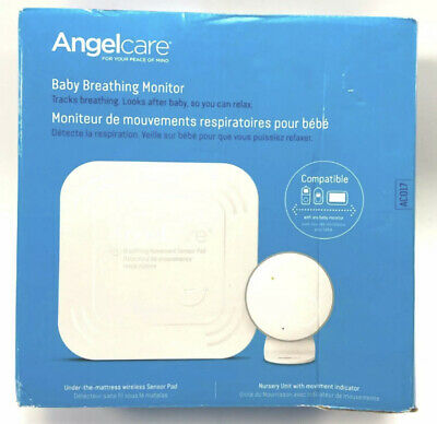 Angelcare Baby Monitor w Movement Alarm & Wireless Breathing Sensor Pad AC017