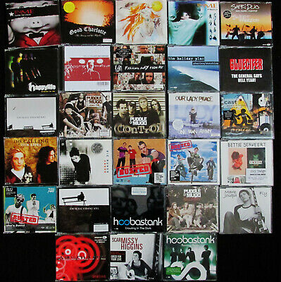 lot of 28 Rock maxi-single CDs Korn, Puddle of Mudd etc. FREE SHIPPING