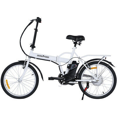 Skateflash Folding E-Bike Blanca Bicicleta Electrica