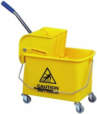 Mop Bucket  with divider and Wringer 24 litres