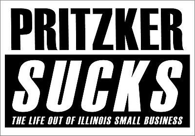 State of Illinois Pritzker small business Cool Funny USA Vinyl Sticker Decal