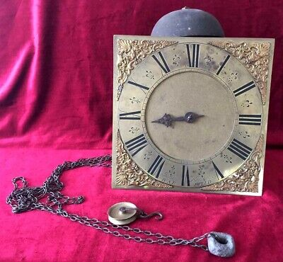 Nice Brass 10in 30 Hour Single Hand Grandfather/Longcase Movement & Dial