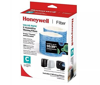 3 Pack Bundle of Honeywell HAC 504 Humidifier Replacement Filters, Filter A