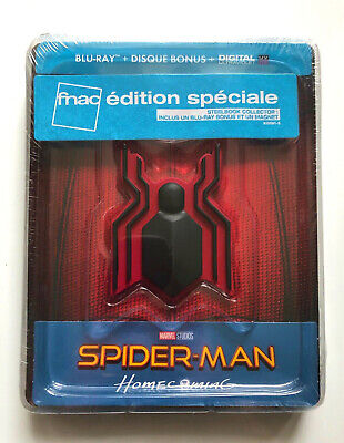 Neuf Spider-Man Homecoming Fr Steelbook Fnac Edition Blu-Ray Marvel