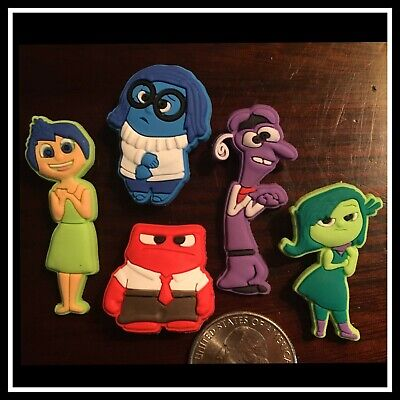 5 Shoe Charms for Crocs Disney Pixar INSIDE OUT Joy Anger Fear Sadness Disgust