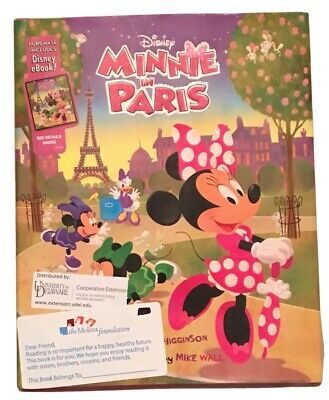 Minnie Mouse In Paris Hardcover eBook Included Book Brand New