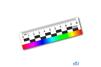 Photographic plastic ruler for evidence photo scale / ruler - 10sm (color)