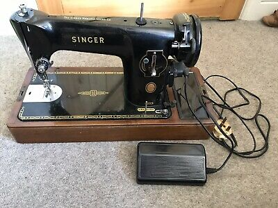 Beautiful Singer 201K antique electric sewing machine