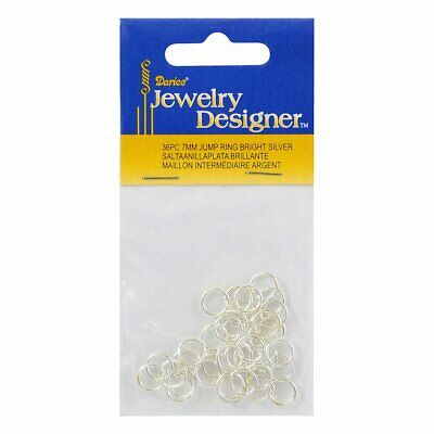 7mm Jump Ring Bright Silver 36pc