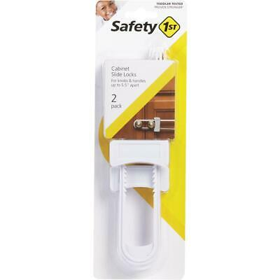 Safety 1st White Squeeze Release Cabinet Slide Lock (2-Pack) 11002  - 1 Each