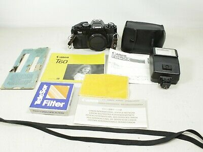 Canon T60 35mm Camera Body Only with extras untested