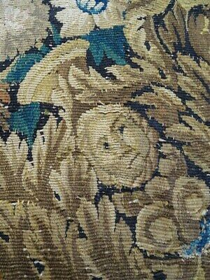 Small French antique fragment Aubusson tapestry 17th-century