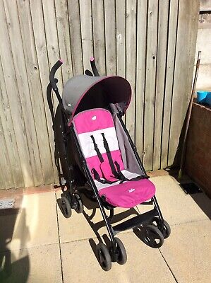 Joie Nitro Pink Stroller/Buggy With Raincover