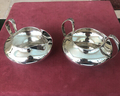 Vintage Gorham Sterling Silver Cream Pitcher and Sugar Bowl