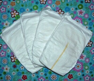 Dolls Nappies 4 pack - Little real nappies Annabelle * Luvabella * Reborn